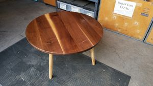 Round walnut coffee table for Sale in Monrovia, CA