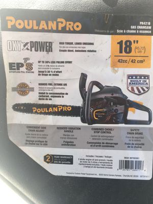 """Like new poulan chain saw 18"""" used just a few times for Sale in Hobe Sound, FL"""