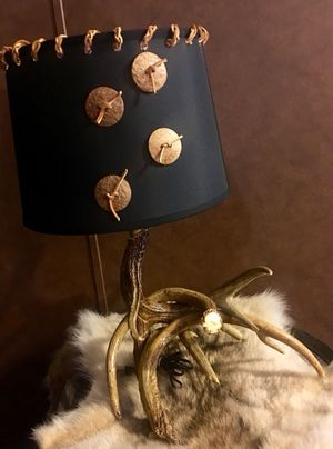 Antlers lamp with shade for Sale in Chillicothe, OH