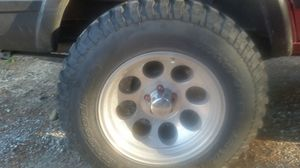 Mickey Tompson Wheels R17 10.5w 4.5lug pattern Tires NOT INCLUDED except the one on spare for Sale in Wenatchee, WA