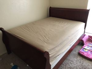Queen size bed with mattress and frame for Sale in Midland, TX