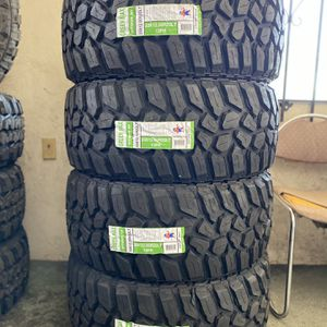 33X12.50R22 Four Brand New Tires Installed and Balanced for Sale in Rialto, CA