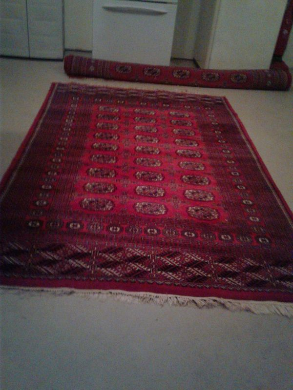 Afghan Rug beautiful red color size 9 by 11 foot