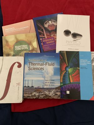 Physics, engineering n calculus books all for $50 obo for Sale in Meriden, CT