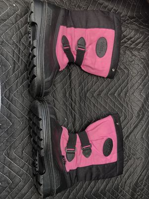 Totes, Snow Winter Boots, Pink & Black, girl's size 4 for Sale in Glenshaw, PA