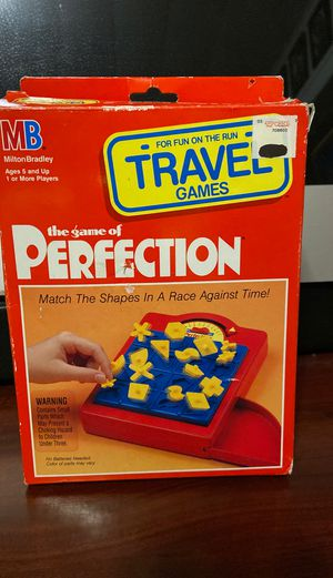 Vintage 1990 Milton Bradley Travel Perfection Timed Puzzle Game w/ Box + Manual for Sale in Waterbury, CT