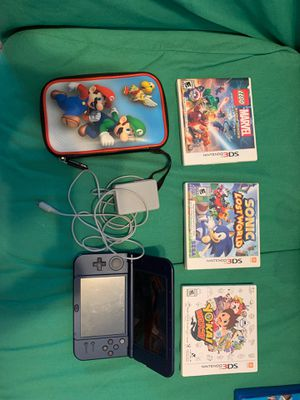Nintendo 3ds XL , case, charger and 3 games for Sale in Orlando, FL