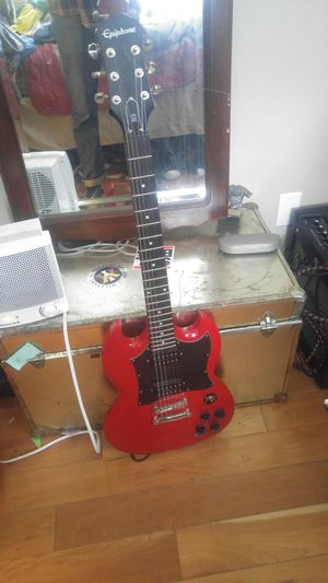 Epiphone SG - Cherry Red and Fender Mustang I Amp for Sale in Norfolk, VA