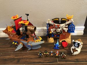 Pirate playset imaginext for Sale in Pinellas Park, FL