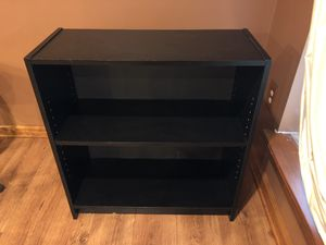 Black Book Shelf- Large Book Storage- Two Shelves - $25 for Sale in Royersford, PA