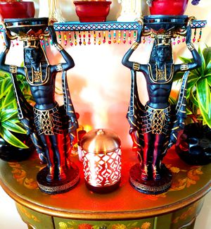 Egyptian God's Candle Holders Statues .Each $25. Two for $40 for Sale in Boca Raton, FL