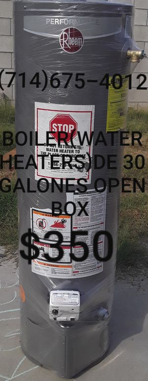 BOILER(WATER HEATERS)DE 30 GALONES OPEN BOX DE LA MARCA RHEEM!!!!!!! for Sale in Santa Ana, CA