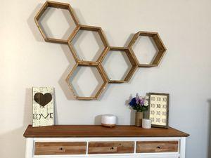 Custom made hexagon/honeycomb shelves **home decor, custom made, home and garden** for Sale in Goodyear, AZ