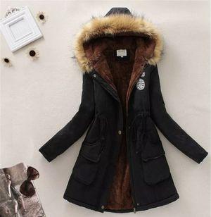 Womens Warm Long Coat Fur Collar Hooded Jacket Slim Winter Parka Outwear Coats w for Sale in Stockton, CA