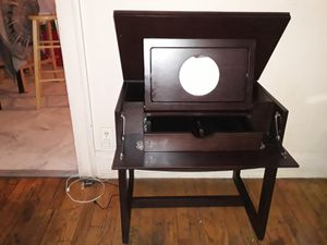 Small dark wood vanity with mirror for Sale in Chicago, IL