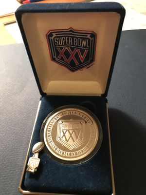 Super Bowl 25 2 ounce Coin & Press Pin for Sale in Tampa, FL
