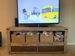 Natural wood tv stand dresser desk organizer for Sale in Mount Laurel Township, NJ