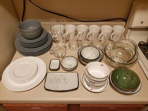 Dishes, plates, bowls, cups, glasses for Sale in Arlington, VA
