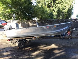 Aluminum boat 12 ft Honda 4 stroke 7.5Hp for Sale in Vancouver, WA