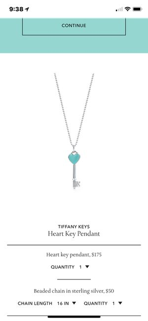 Tiffany's key pendant - NEW for Sale in Dublin, OH