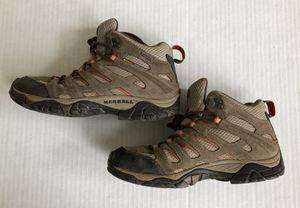 Women's Merrell Moab Mid Hiking Waterproof Brown Tan Boots Vibram Sole - Sz 7.5 for Sale in Washington, DC