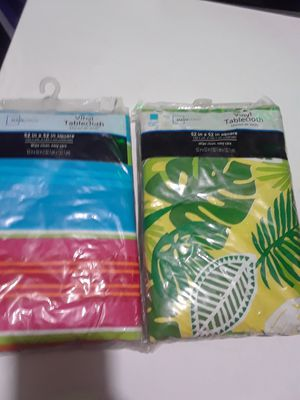 Summertime Table cloth $10.00 cash only (serious buyers) for Sale in Dallas, TX