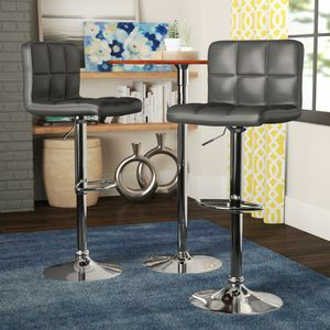2 brand new dark grey bar stools New in the box free delivery for Sale in Miami, FL