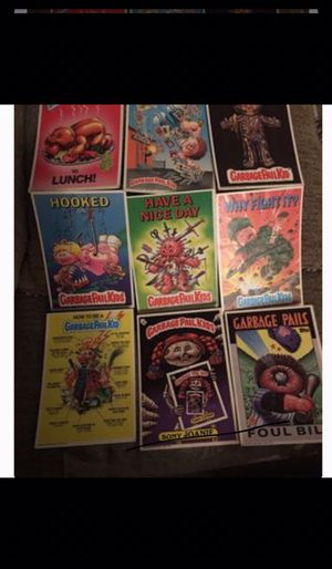 Vintage 1980s Large garbage pail kids cards set of nine for Sale in Los Angeles, CA