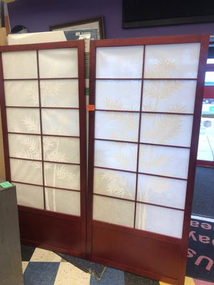 New Panel Wood Painted Tree Shoji Sliding Closet Doors for Sale in Virginia Beach, VA
