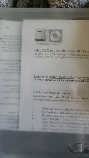 Mac osx I stall.reinstall.recover disc for Sale in Grand Prairie, TX