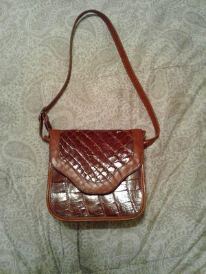 Justin alligator purse gorgeous cognac for Sale in San Antonio, TX