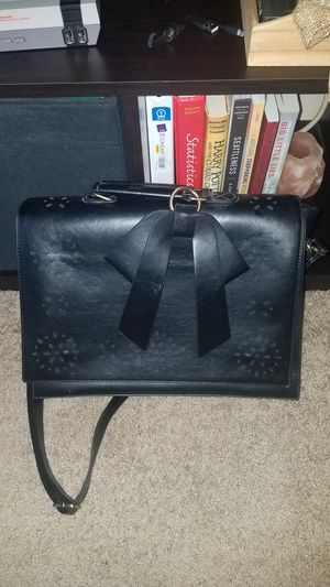 Black laptop bag with bow for Sale in Seattle, WA