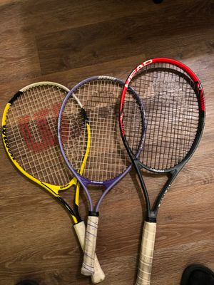 Head & Wilson tennis rackets for Sale in Murrieta, CA