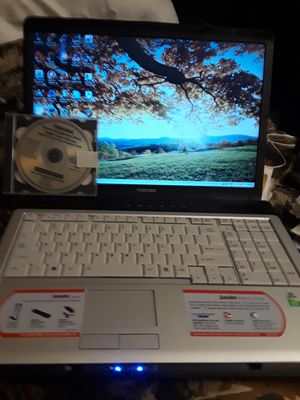 Toshiba 17 laptop with restore disc for Sale in Yardley, PA