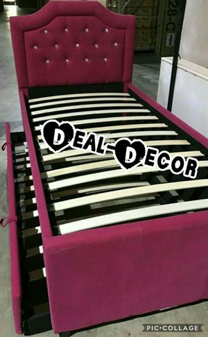 Pink Twin Trundle Bed for Sale in Atlanta, GA