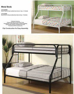 New full - twin bunk bed frame $249 fr delivery for Sale in West Palm Beach, FL