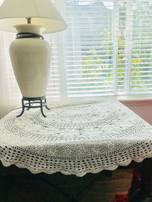 Antique hand crocheted lace table topper. It's exquisite. for Sale in Seattle, WA