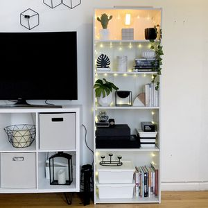 WHITE BOOKCASE STORAGE for Sale in New York, NY