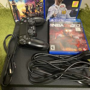 ps4 slim with 2 controllers for Sale in Lawndale, CA