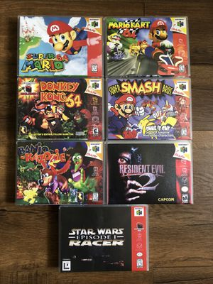 AUTHENTIC N64 VIDEO GAMES W/ PROTECTIVE CASES NINTENDO 64 ASK FOR PRICES for Sale in San Diego, CA