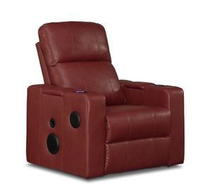 Red Leather Bluetooth recliner for Sale in Detroit, MI