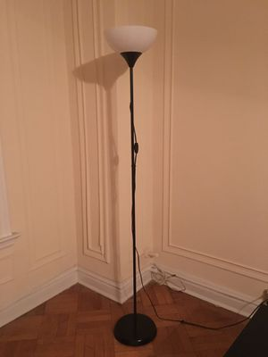 Black Floor Lamp with White Shade for Sale in St. Louis, MO
