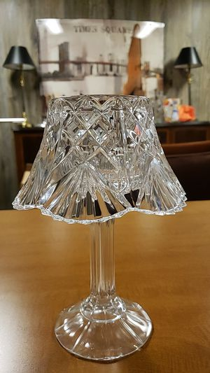 Small antique glass candle lamp for Sale in Florissant, MO