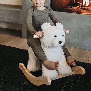 Pottery Barn Kids Sherpa Plush Bear Rocker Wooden Rocking Toy for Sale in Denver, CO