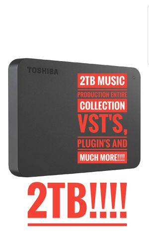 Full Collection of Music Production 2TB New External 3.0 HD PLUGnPlay for Sale in Gallatin, TN