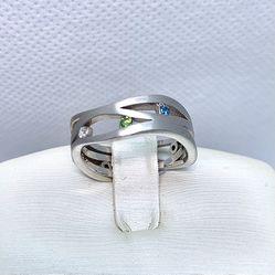 14k White Gold Colored Diamonds Ring for Sale in Tustin,  CA