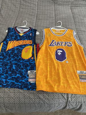 Bape Jersey Lakers Warriors Large for Sale in Las Vegas, NV