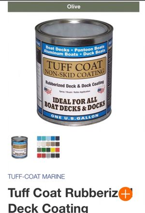 Tuff Coat rubberized marine, splash pad water proof nonslip paint for Sale in Spring, TX