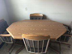Kitchen Desk with Chairs for Sale in Bloomington, IL