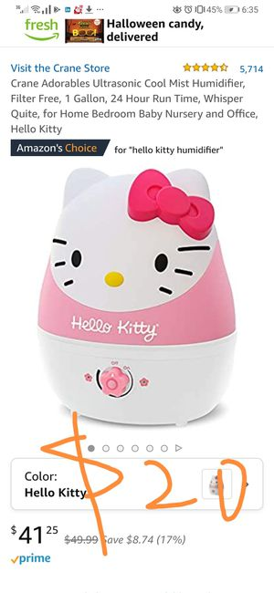 crane hello kitty humidifier for Sale in Richardson, TX